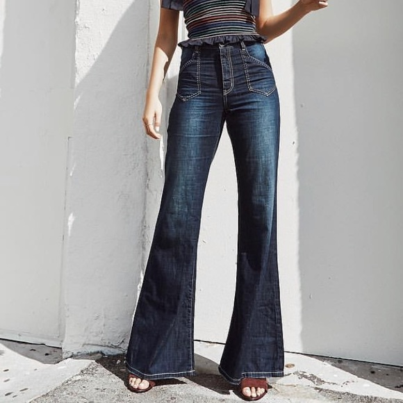 modern design retail prices great quality One Teaspoon Flare Jeans
